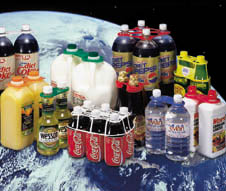 Beverage packaging and multipack carriers.